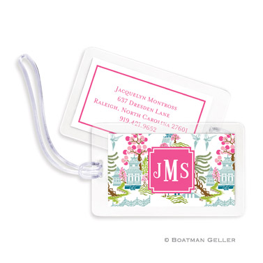 Luggage Tags - Chinoiserie Spring
