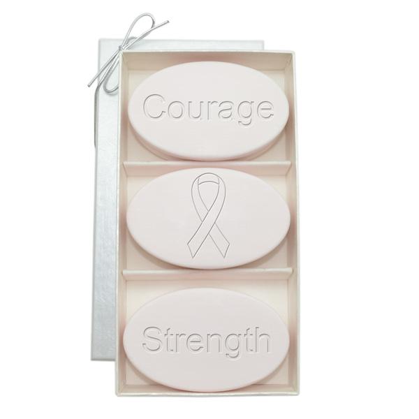 Signature Spa Satsuma Trio: Courage Strength Breast Cancer Awareness